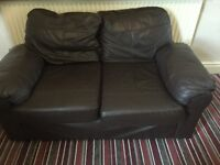 2 & 3 seater used leather sofa for £30 none smoker & none pet home