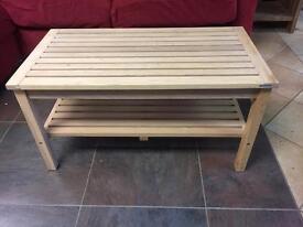 Wooden slat table