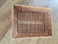 Wicker Baskets - 2 sizes - 20 of each size. All 40 baskets for £120