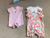 First size & up to one month girls clothes