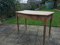Lovely aged old pine table/desk