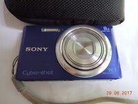 sony dsc w730 blue camera