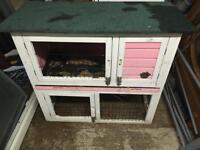 Pink indoor outdoor rabbit cage