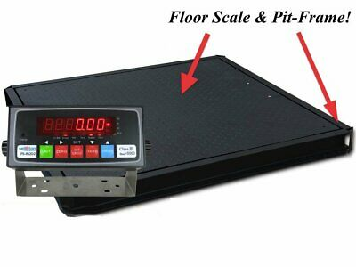 60 X 60 5x5 Floor Scale 10000 Lbs. X 1 Lb. With Pit Frame Pallet Size