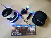 Sony playstation vr plus games camera move controllers