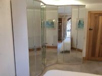 Glass fronted bedroom wardrobes
