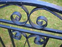 Pair of Vintage Gates - 8ft wide 1950s Complete Wonderful Condition Scroll Work