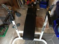 Kettler heavy duty incline bench with dip station and leg curl