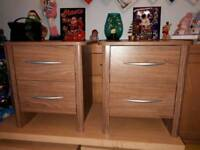 pair of matching bedside drawers. Delivery available