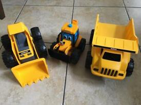 CAT and JCB toys