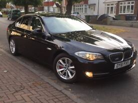 2011 ( 61 plate ) BMW 5 Series Automatic Black Beige interior FSH 2 Keys HPI Clear Excellent Condit
