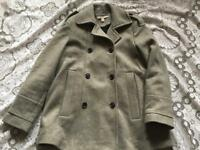 Zara trafaluc ladies coat jacket Grey colour Size S-8 Used v,good condition £5