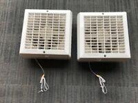 """x2 GET GFAN6P 150mm 6"""" Kitchen Bathroom Toilet Extractor Ventilation Wall Fan"""