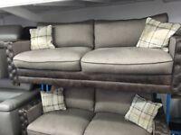NEW / EX DISPLAY Belvedere/Chesterfield 3 + 3 Sofas