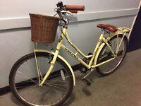 "18"" Viking Westwood Women's Bike ~ Single Speed, lemon yellow, vintage Dutch style"