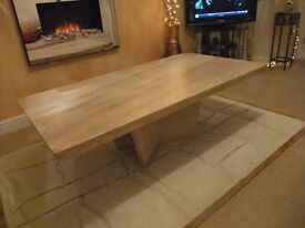 """Marble coffee table 28"""" x 51"""". Perfect condition with base - selling because of grandchildren £200"""