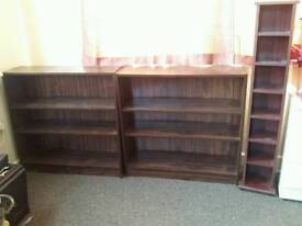 2 Book Case / Shelves and CD Rack