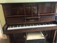 Piano, Kemble of London and Pianostool