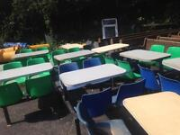 9x take away table and chairs