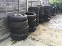Free Assorted Used Car Tyres