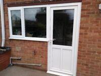 UPVC double glazed back door and window excellent condition