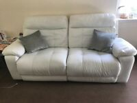 White leather divani sofa