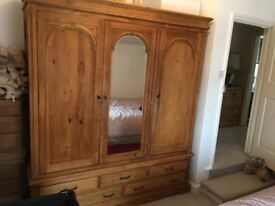 Large Wardrobe and Chest of Drawers in excellent condition
