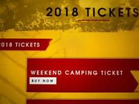 Leeds festival weekend camping ticket