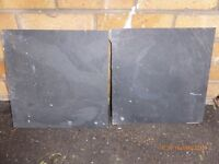 58 300mm x 300mm slate floor tiles plus approx 30 damaged to be used as half tiles