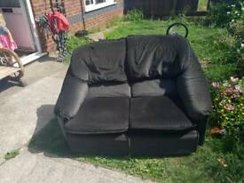 2 seater sofa + footstall