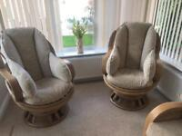 Modern conservatory/living chairs and settee