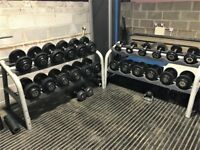 Hampton Dumbbell set with 2 racks