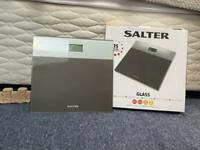 Salter Glass Electric Scales Silver
