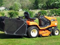 Kuboto G18 Diesel Ride on Mower complete with grass collection system: Only 790 hours