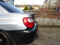 impreza ductail style boot fibre glass