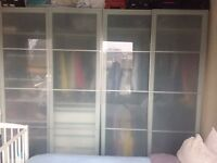 4 + 1 Pax wardrobes from Ikea including drawers, shelfs, lights....