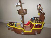 Pirate ship and badman