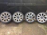 "Audi Vw alloy wheels R8 18"" rims 5 stud multifit"