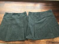 2 Girls grey school skirts aged 5-6