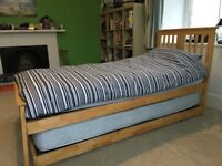 2 stacked single beds