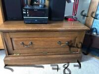 Solid oak TV stand £50 ono