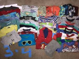 3-4 years boys clothing bundle