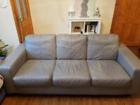 3 seater Grey sofa