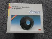 Video wide angle lens converter