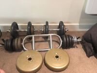 Selection of weights and bars c60kg in total - willing to split