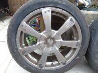 "4 OZ 17"" Titan Alloy Wheels."