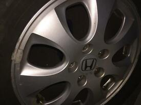 HONDA ACCORD 16 inch Alloy Wheels With Tyres SEVEN SPOKE