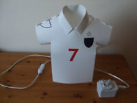 Bedside or table light in the shape of a Football Shirt
