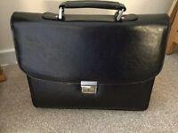 "Genuine Leather 16"" Briefcase"