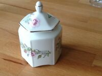 Aynsley Wild Tudor bone China small Jar.